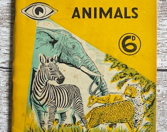 I-Spy At The Zoo Animals book News Chronicle I Spy no. 7 Vinatge Childrens Treasure Hunt Book 1955