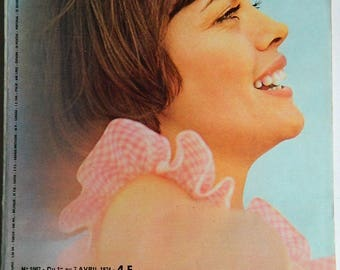 Days of France Magazine, Mireille Mathieu, Year of April 1 to 7, 1974
