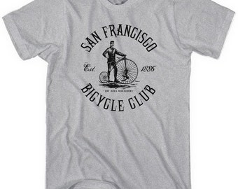 San Francisco Bicycle Club T-shirt - Men and Unisex - SF Cycling Tee - XS S M L XL 2x 3x 4x - 3 Colors