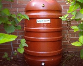 Rain Barrel, DIY Kit, Used Food Grade Barrel, Upcycled FREE SHIPPING !!!