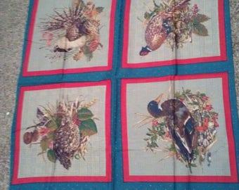 Wild Birds Fabric Panel