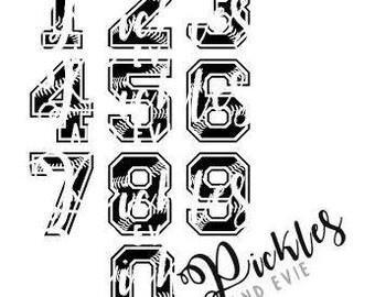 Baseball/Softball Jersey Numbers, Baseball Vinyl, Softball Love Vinyl, Baseball/Softball SVG