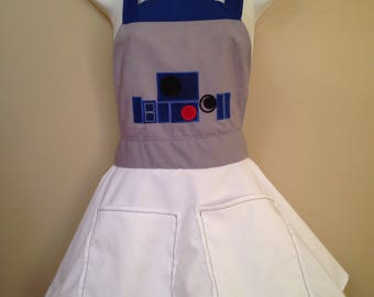 R2D2 Star Wars inspired adult Apron