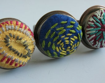 Hand Embroidered Fiber Ring