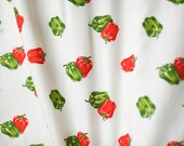Green and red peppers on ...