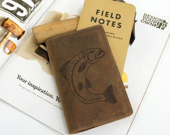 Field Notes Leather Cover - House of Tully - Customizable - Free Personalization