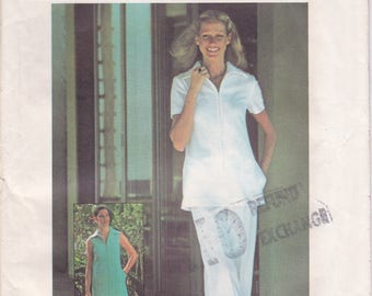FREE US SHIP Simplicity 5964 Vintage Retro 1970's 70's Sewing Pattern Size 10 Bust 32 Uncut 10 Bust 32.5 Dress Pantsuit Nurse Uniform