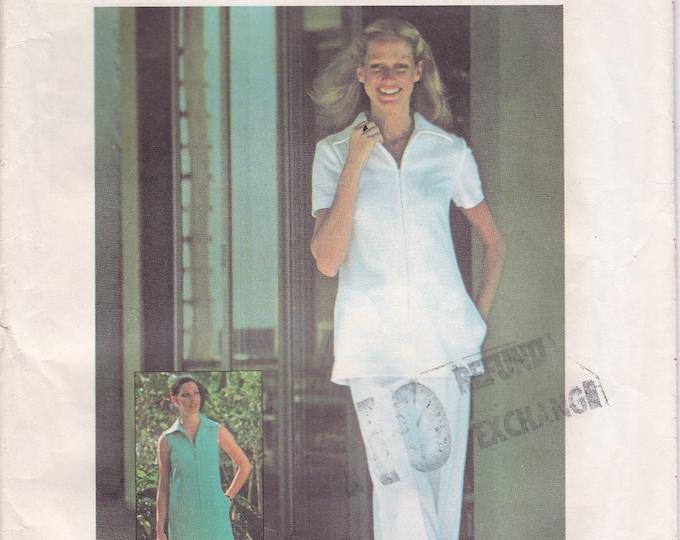 FREE US SHIP Simplicity 5964 Vintage Retro 1970's 70's Sewing Pattern Size 10 Bust 32 Uncut 10 Bust 32.5 Dress Pantsuit Nurse Uniform