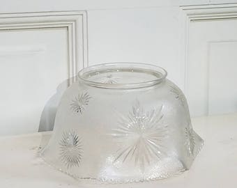 Light shades etsy gas light shade 4 inch fitter gas chandelier shade gasolier shade 4 inch collar snowflake shade cut glass shade starburst shade aloadofball Image collections