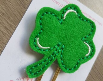 Shamrock Green Clover St Patrick's Paper Clip
