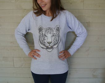 Tiger woman Sweatshirt