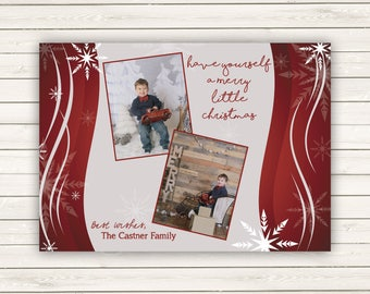 Photo Christmas Cards, Personalized Christmas Cards, Christmas Cards, Flat Photo Christmas cards, Baby Photo Christmas Card, Santa Card