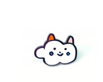 Cloud Cat Enamel Pin- 1 inch