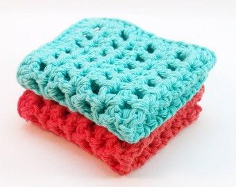 Dishcloth Crochet Pattern, Instant Download, Easy Crochet Pattern, Washcloth Crochet Pattern, Mesh Dishcloth Pattern