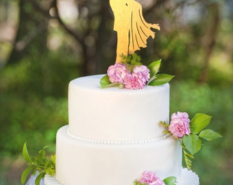 Wedding Cake Topper  Groom Lifting Bride