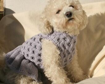 Dog Dress| Pet Clothing | Hand Knit Dog Clothes | Pet Top | by BubaDog