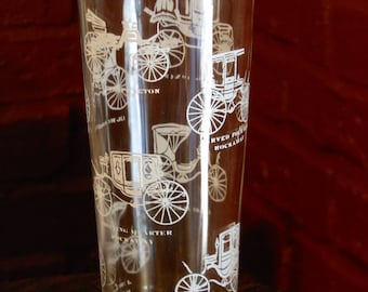 Five Vintage 14-OZ. Horseless Carriage Glasses