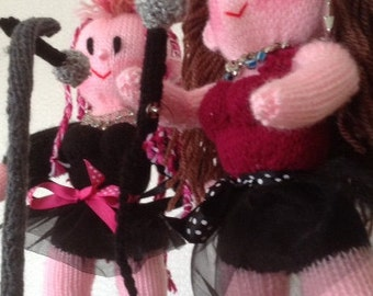 The Rock Band SINGERS Toy Knitting Pattern
