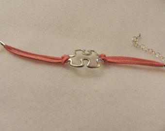 Silver Autism Awareness  Infinity Bracelet    choice of  colors ET 9093330