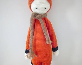 Doudou, plush, giant amigurumi Fox handmade crochet