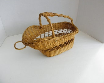 Wicker Wine Bottle Holder Carrier