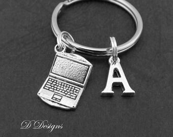 Laptop KeyRing, Laptop KeyChain, Computer Key Chain, Computer KeyChain, Personalised Laptop Key chain, Computer Geek Gifts