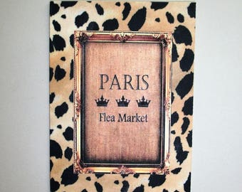 PARIS - LEOPARD - GiFT Enclosure CaRDS - Sets of 8.  These are folded with envelopes included -  elegant - GEC 78