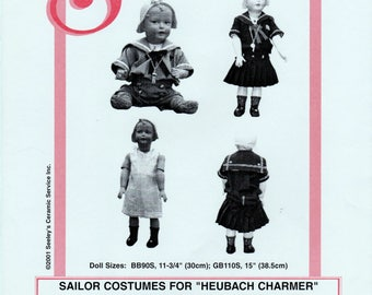 "Seeley's Dollmaker's Pattern No. CP2000 - Sailor Costumes for ""HEUBACH CHARMER"""