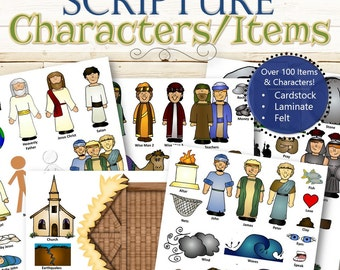 Felt, Printed and Laminated Characters for Scripture Stories