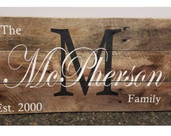 Exceptional Farmhouse Decor. Established Sign. Last Name Sign. Family Name Sign.  Personalized Gift