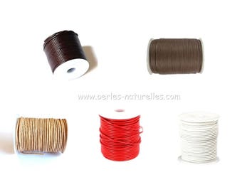 3mm Leather Cord - 1/10/50m - Choice the Color