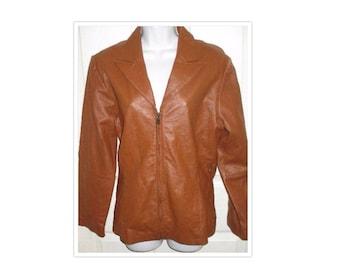 Vintage Brown Leather Jacket SZ S