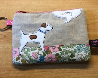Jack Russell coin purse - dog purse - change purse - small coin purse - dog zipper pouch - dog lover gift - dog mum - Jack Russell gift