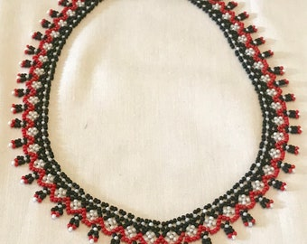 Sicilian Inspired Beaded Necklace