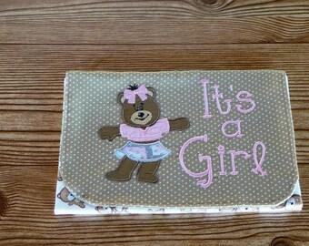 Diaper & Wipe Clutch/Small Diaper Bag/Bear Diaper and Baby Wipe Clutch/Mini Nappy Bag/Travel Small Diaper Bag/Diaper and Wipe Organizer