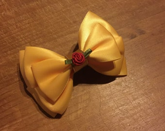 Disney Inspired Princess Belle (Beauty and the Beast) Hair Bow