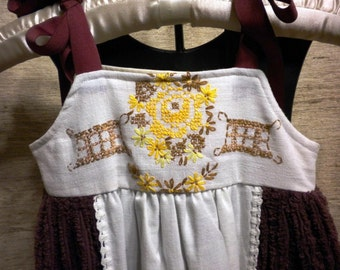 Vintage Maroon Chenille Dress Size 2/3