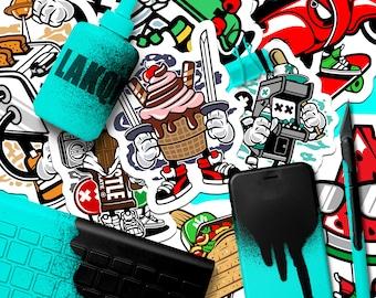 1000 Promotional Stickers | Marketing Stickers, Full Color Stickers, Skateboard Stickers, Outdoor Stickers, Sticker Bomb, Custom Stickers