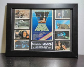 Table mounting no. 3 tribute to Star Wars with 8 original corms of 1977 and 1978 Postal.