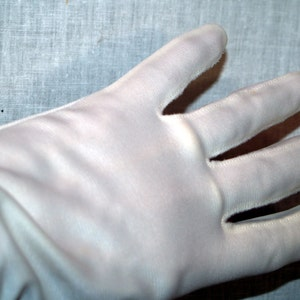 White nylon gloves vintage