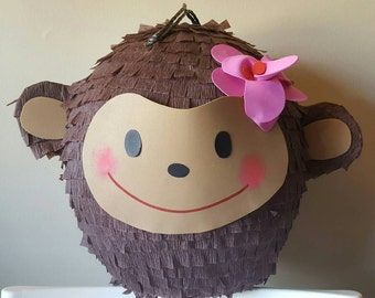 Lovely Monkey Pinata for birthday party or baby shower.