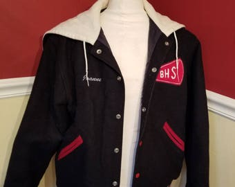 FREE  SHIPPING   Vintage  1960  Cheerleader  Jacket