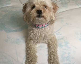 Crochet Floral Dog Collar