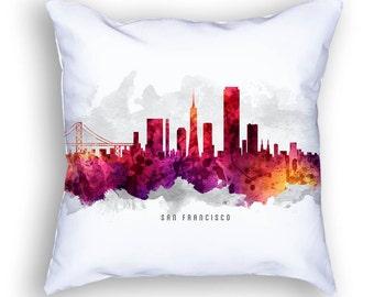 San Francisco California Pillow, San Francisco Skyline, San Francisco Cityscape, 18x18, Cushion, Home Decor, Gift Idea, Pillow Case 14