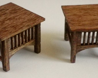 Stickley Style End Tables - 2 per  Kit - Quarter Inch Scale