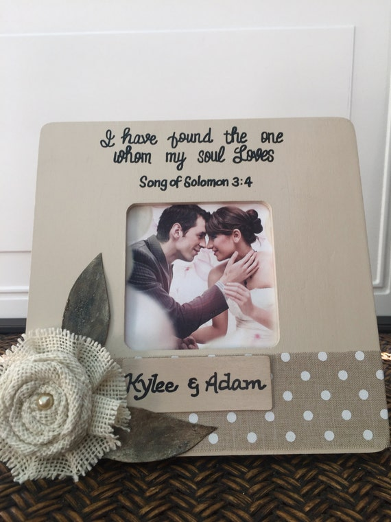 Personalized wedding frame Gift to Bride and groom Wedding frame ...