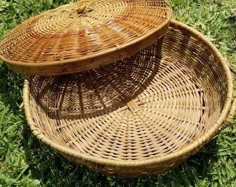 Wickered Basket with lid