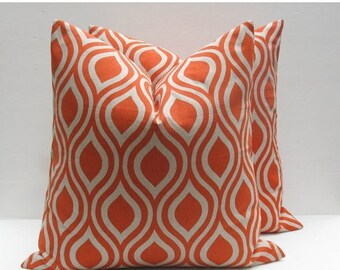 15% Off Sale Decorative Throw Pillow Covers Orange Pillow 18x18 Pillow Toss Pillow Cushion Covers Fall Pillow Home Decor pillow covers cm bu