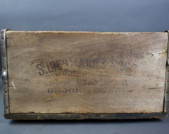 1800s Brooklyn Brewing Company S Liebmann & Sons Wooden Crate