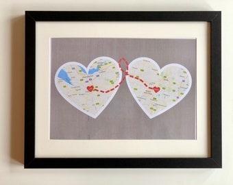 Personalised Heart Maps Print